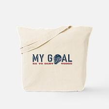 My Goal, Lacrosse Goalie Tote Bag