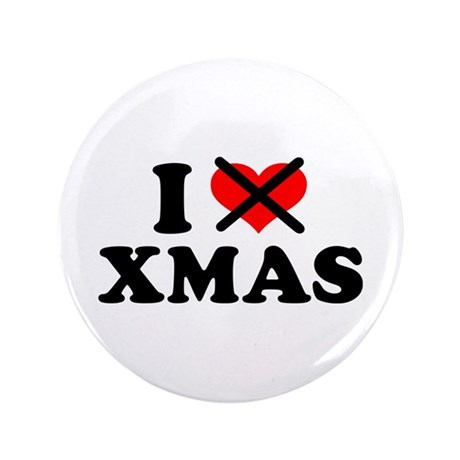 "I hate xmas christmas 3.5"" Button (100 pack)"