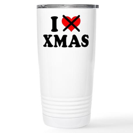 I hate xmas christmas Stainless Steel Travel Mug