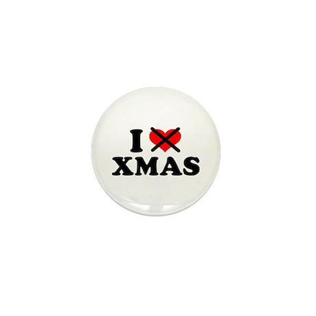 I hate xmas christmas Mini Button (10 pack)