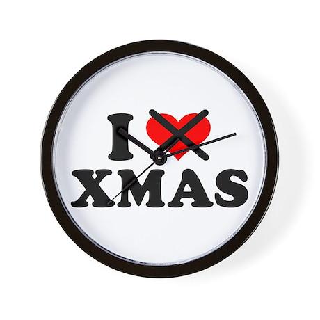I hate xmas christmas Wall Clock