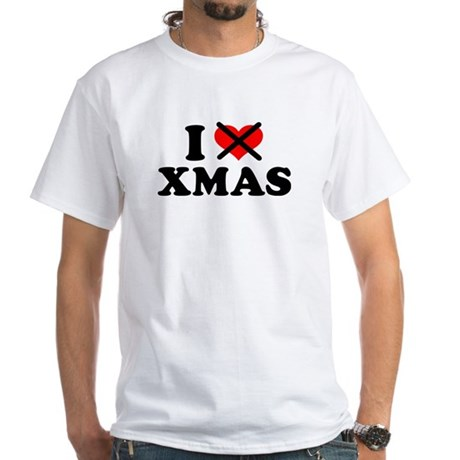 I hate xmas christmas White T-Shirt