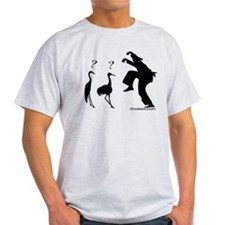 Hilarious Crane and Ninja T-Shirt