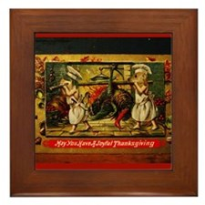 Thanksgiving Doxies Framed Tile