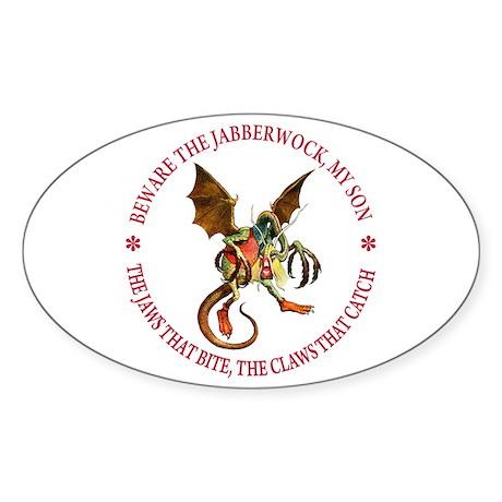 Beware the Jabberwock, My Son Sticker (Oval)