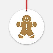 Lebkuchen man gingerbread Ornament (Round)