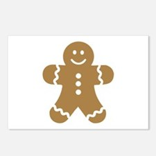 Lebkuchen man gingerbread Postcards (Package of 8)