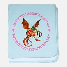 Beware the Jabberwock, My Son baby blanket