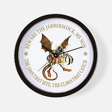 Beware the Jabberwock, My Son Wall Clock