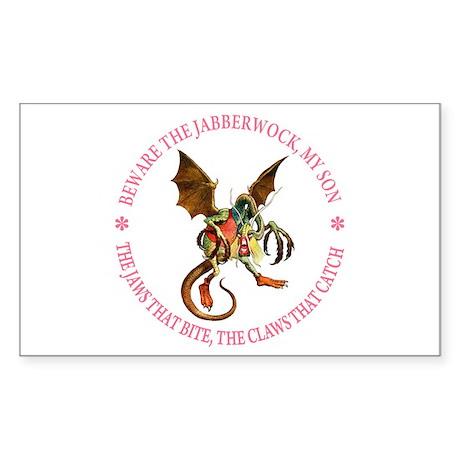 Beware the Jabberwock, My Son Sticker (Rectangle)