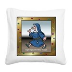 SingingNunTile.png Square Canvas Pillow