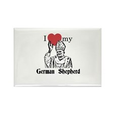 3-I Love My German Shepherd Gothic Magnets