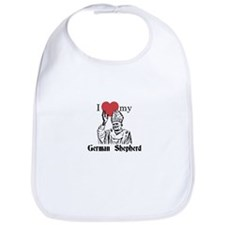 Cute German shepherd Bib