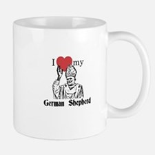 3-I Love My German Shepherd Gothic Mugs