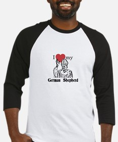 3-I Love My German Shepherd Gothic Baseball Jersey