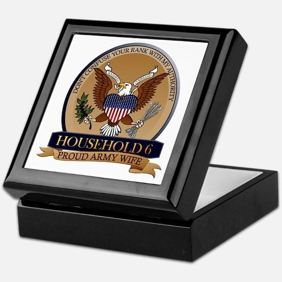 Household 6 - Army Wife Keepsake Box