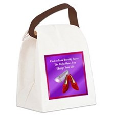 MouseGlass slipper.png Canvas Lunch Bag