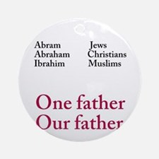 Abraham Our Father Ornament (Round)