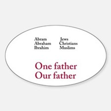 Abraham Our Father Sticker (Oval)