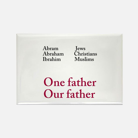 Abraham Our Father Rectangle Magnet