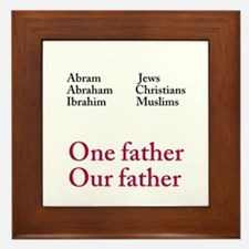 Abraham Our Father Framed Tile