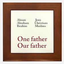 Abraham Our Father Framed Tile