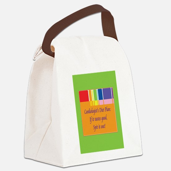 CardiologistBlahDietCards.png Canvas Lunch Bag