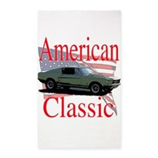 mustang fstbck 3'x5' Area Rug
