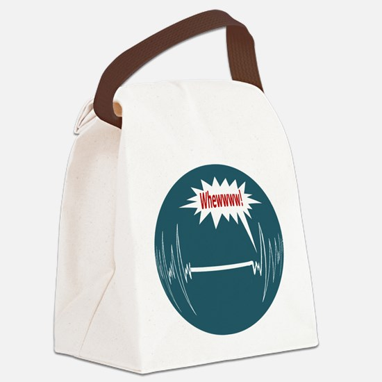 2-WhewOval.png Canvas Lunch Bag