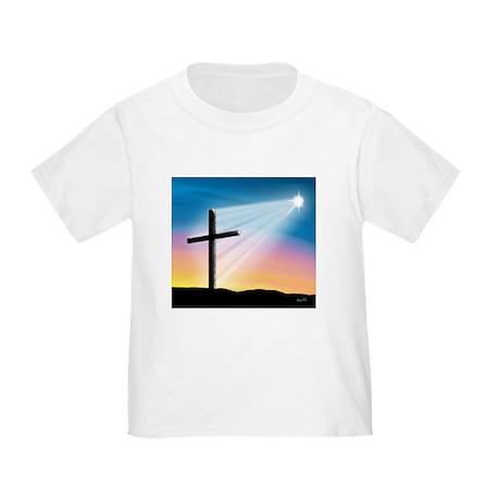 Sunset Cross Enlightened 10x10 Toddler T-Shirt