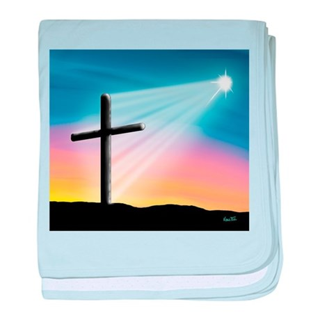 Sunset Cross Enlightened 10x10 baby blanket