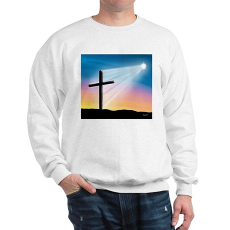Sunset Cross Enlightened 10x10 Sweatshirt