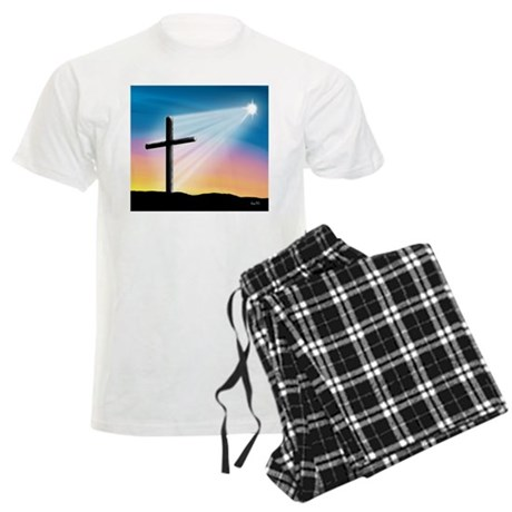 Sunset Cross Enlightened 10x10 Men's Light Pajamas
