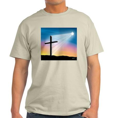 Sunset Cross Enlightened 10x10 Light T-Shirt