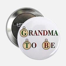 """Christmas Grandma To Be 2.25"""" Button"""
