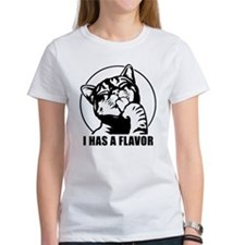 I HAS A FLAVOR - Women's Dark Cat T-Shirt T-Shirt