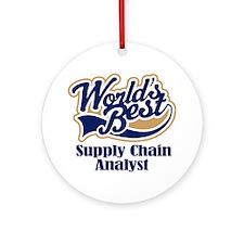 Supply Chain Analyst (Worlds Best) Ornament (Round