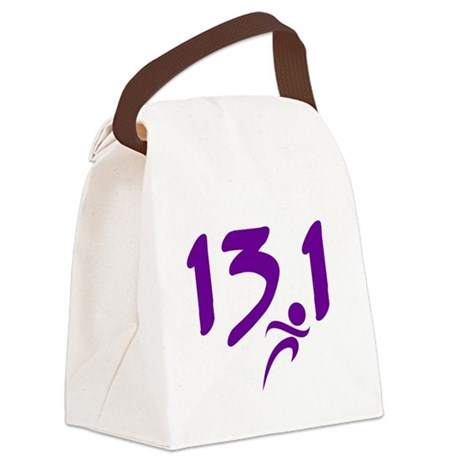 Purple 13.1 half-marathon Canvas Lunch Bag