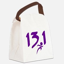 Purple 13.1 half-marathon Canvas Lunch Bag