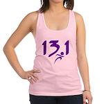 Purple 13.1 half-marathon Racerback Tank Top