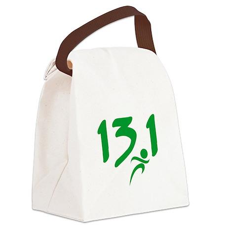 Green 13.1 half-marathon Canvas Lunch Bag