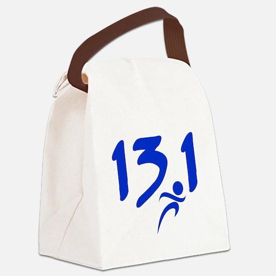 Blue 13.1 half-marathon Canvas Lunch Bag