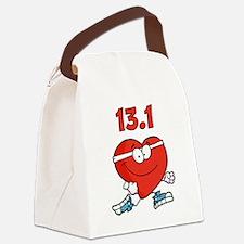 Half-marathon heart Canvas Lunch Bag