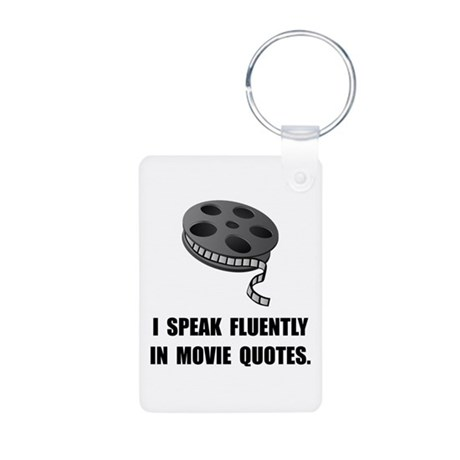 Speak Movie Quotes Aluminum Photo Keychain