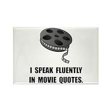 Speak Movie Quotes Rectangle Magnet (100 pack)