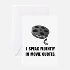 Speak Movie Quotes Greeting Card
