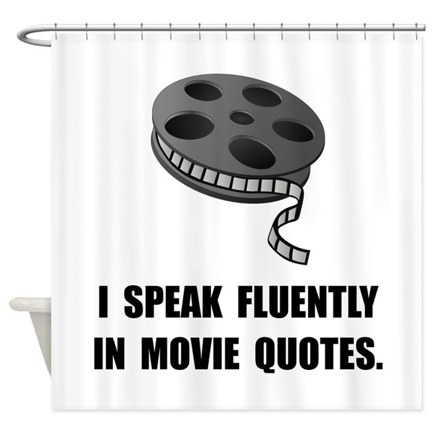 Speak Movie Quotes Shower Curtain By FunBabyClothes