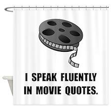 Speak Movie Quotes Shower Curtain