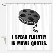 Speak Movie Quotes Shower Curtain