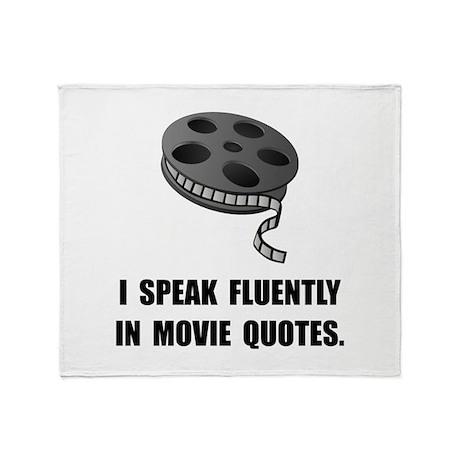 Speak Movie Quotes Throw Blanket